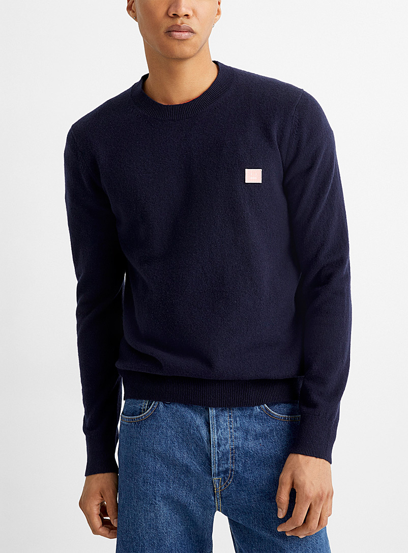 Acne Studios Patterned Blue Monochrome sweatshirt for men