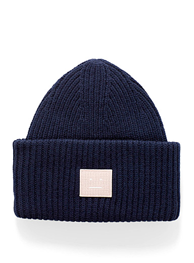 Acne Studios Patterned Blue Pansy tuque for men