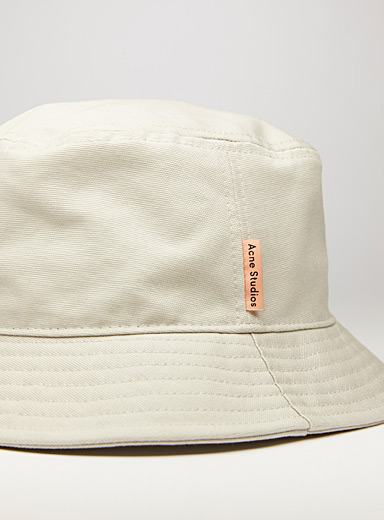 Acne Studios Cream Beige Bucket style hat for men