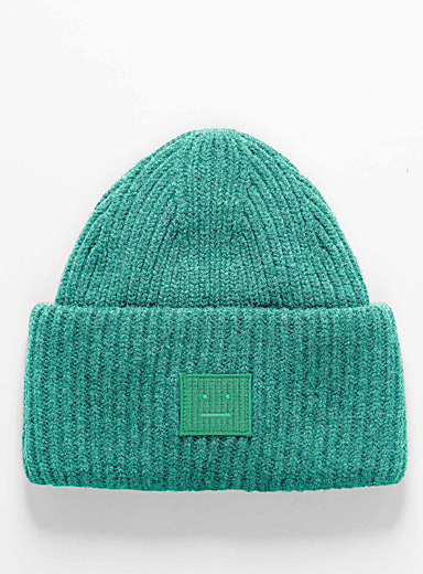 Acne Studios Kelly Green Oversized cuff tuque for men