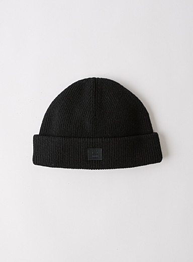 Acne Studios Black Face beanie for men