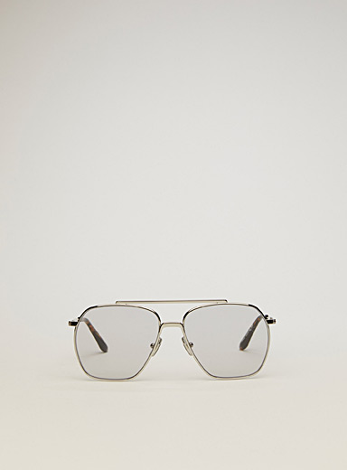 Acne Studios Silver Aviator sunglasses for men