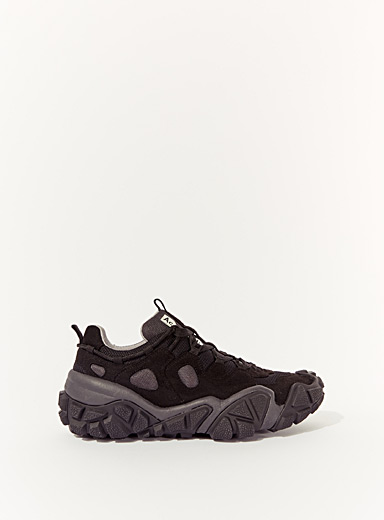 Technical laced sneakers