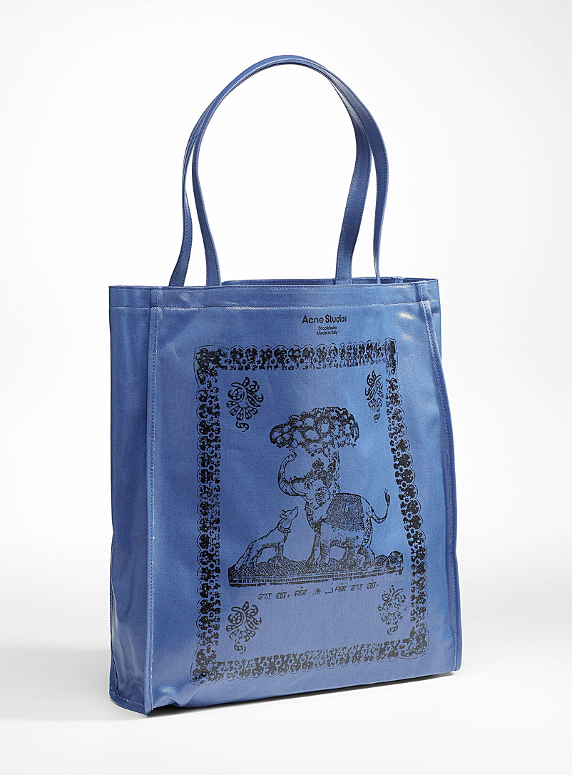 Acne Studios Blue Dog and elephant tote for men