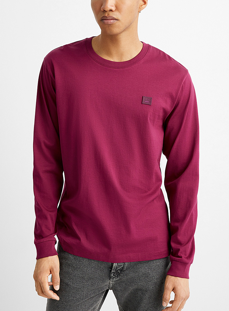 Acne Studios Pink Face long-sleeve T-shirt for men