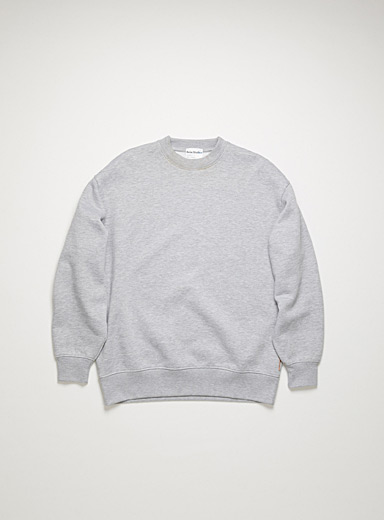 Acne Studios Light Grey Logo tag sweatshirt for men