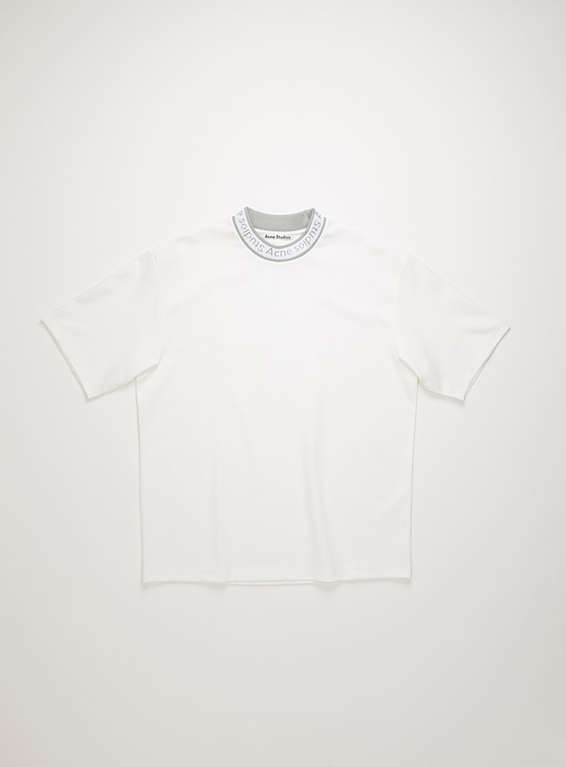Acne Studios White Logo crewneck T-shirt for men