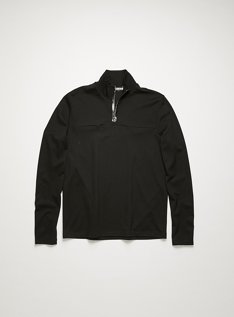 Acne Studios Black Half-zip sweatshirt for men