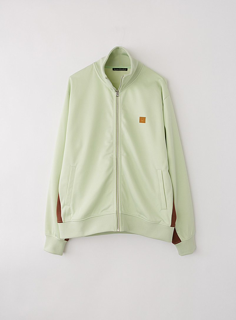 Acne Studios Lime Green Face patch tracksuit jacket for men