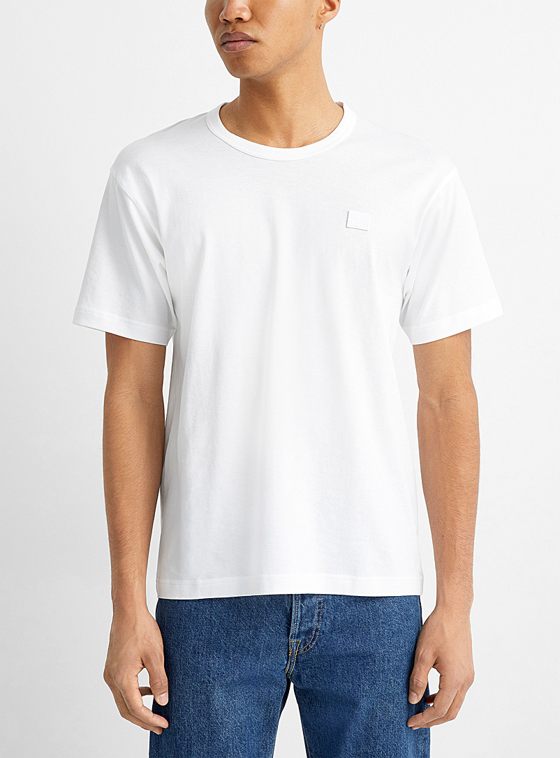 Acne Studios Ivory White Face T-shirt for men