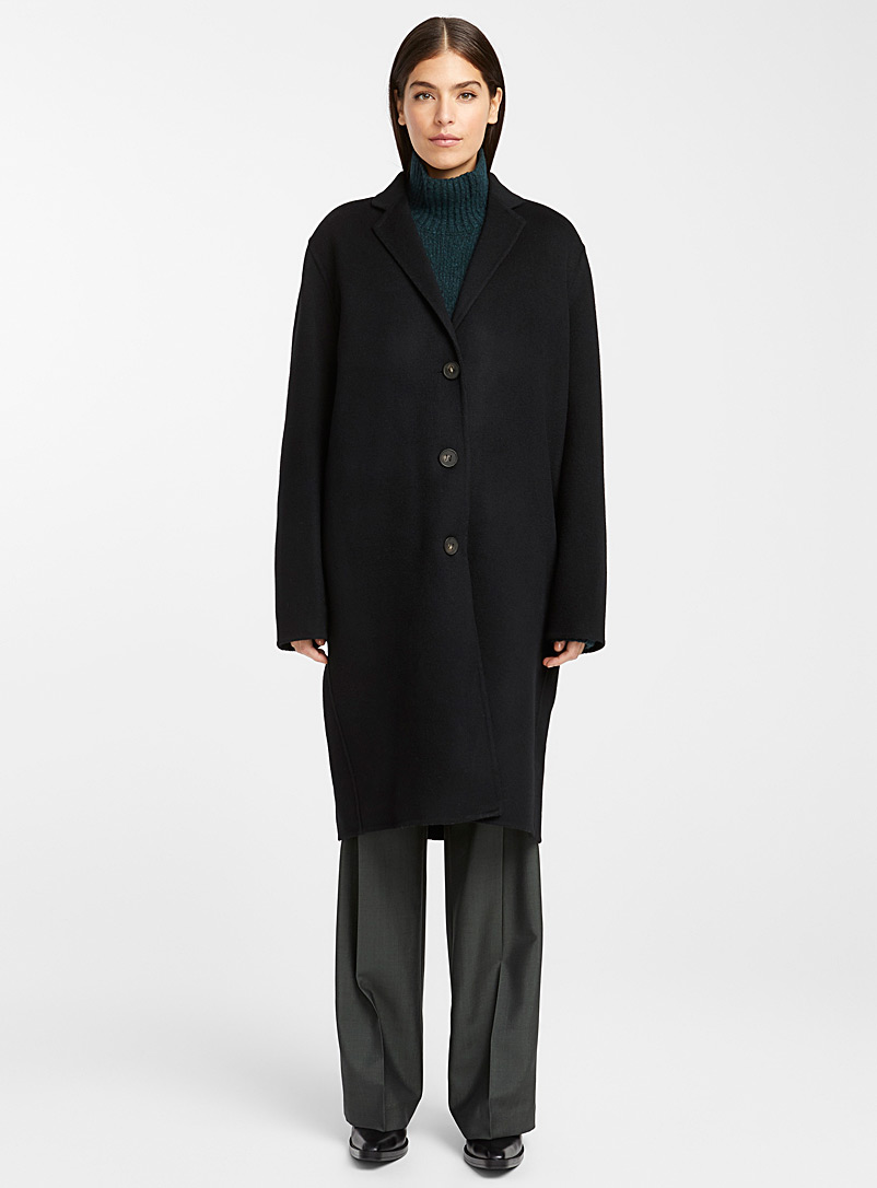 Acne Studios Black Single-breasted coat for women