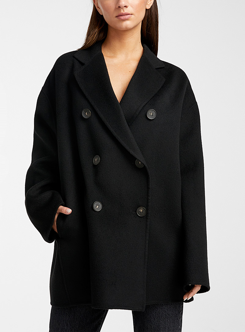 Acne Studios Black Double-breasted peacoat for women