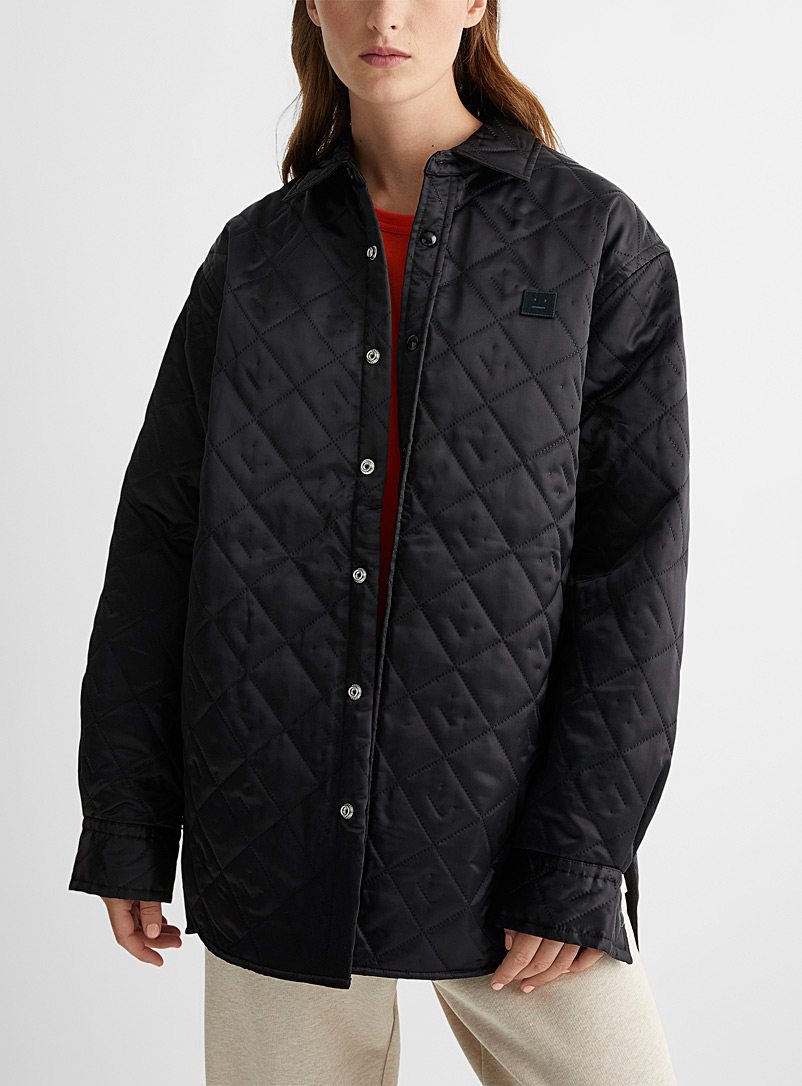 Acne Studios Black Face long quilted jacket for women