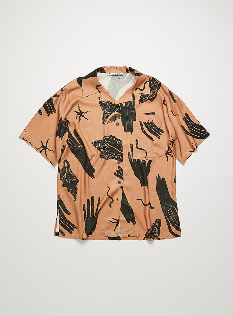 Acne Studios Dusky Pink Hand and shell prints blouse for women
