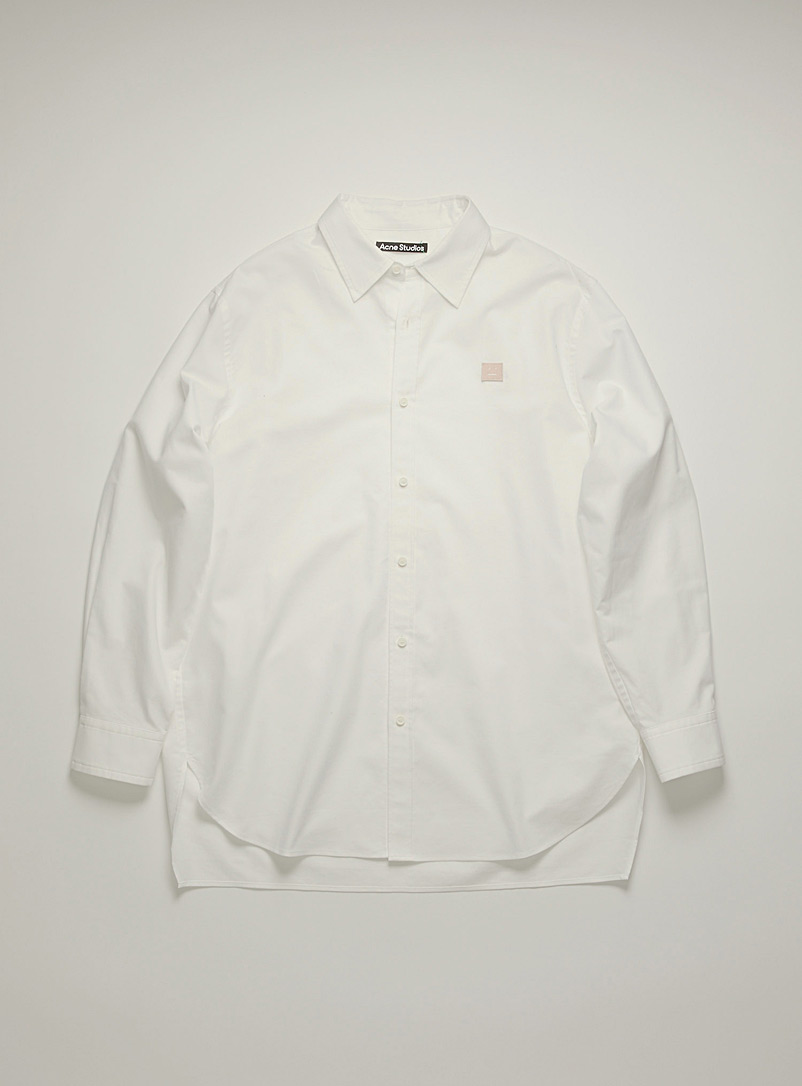 Face patch Oxford shirt