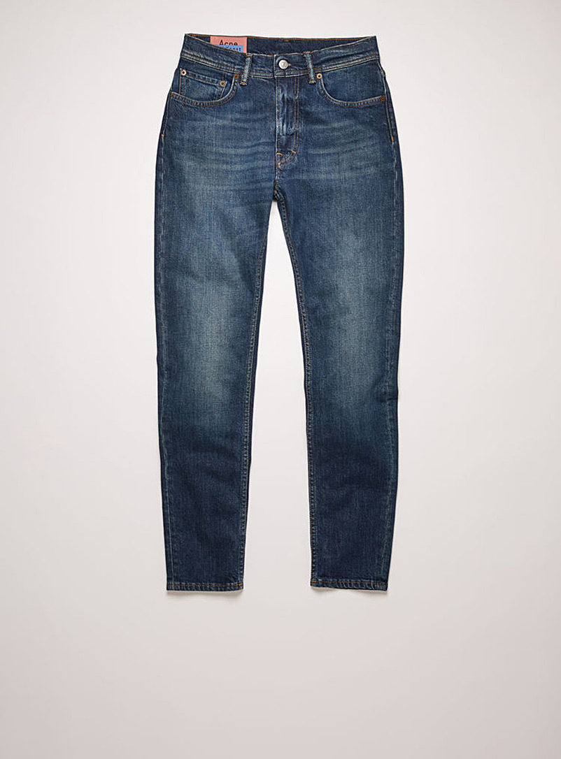 Acne Studios Dark Blue Faded skinny jean for women
