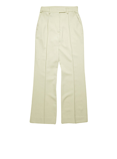 Acne Studios Lime Green Summer wool pants for women