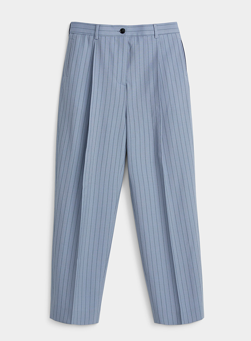 Acne Studios Baby Blue Pinstripe dress pant for women
