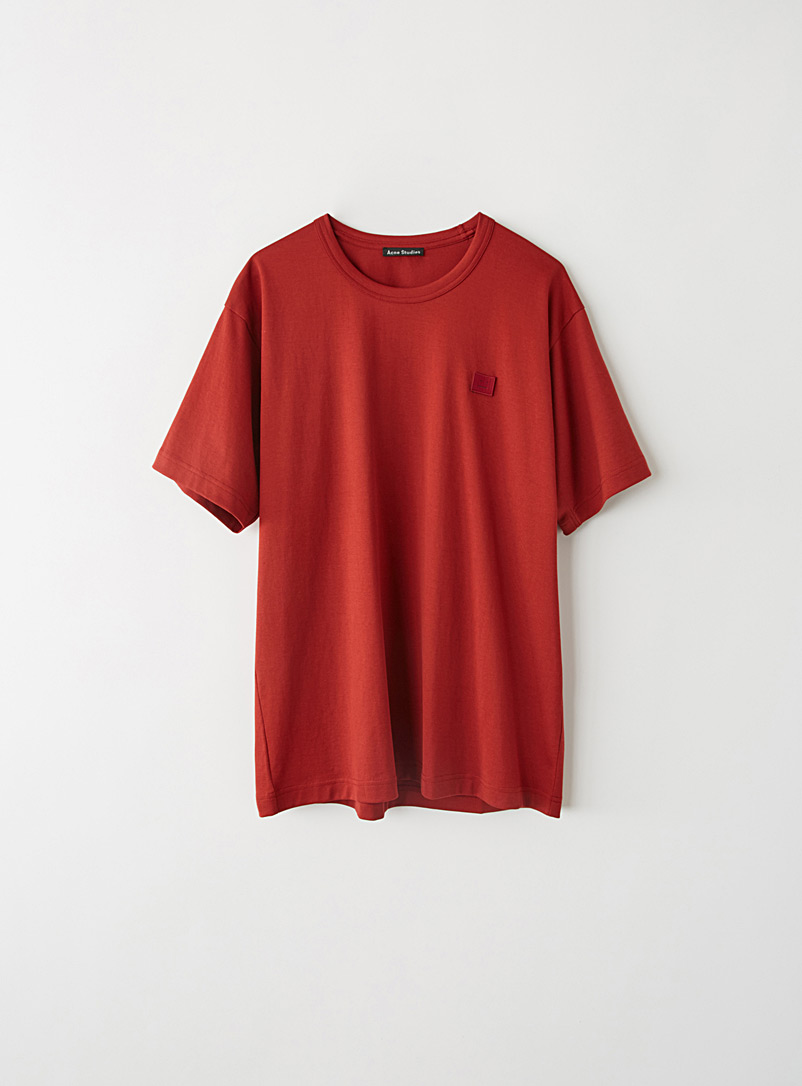 Acne Studios Copper Embroidered Face patch T-shirt for women