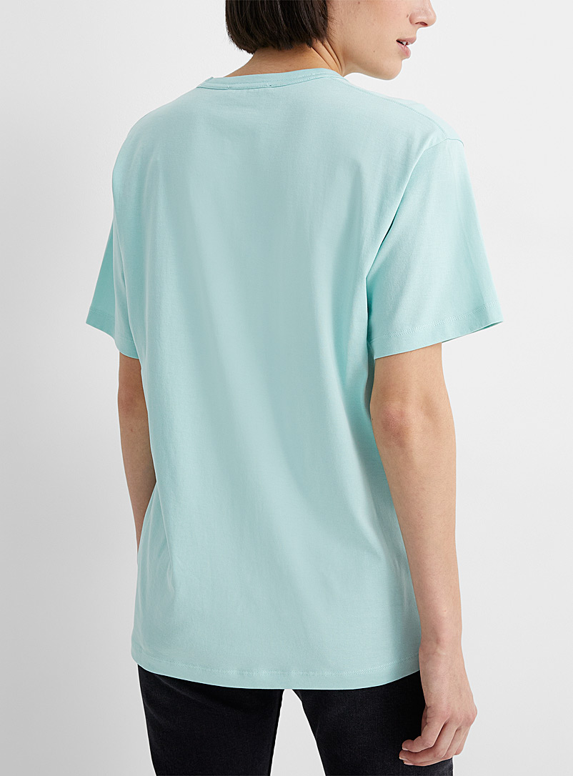 Acne Studios Orange Embroidered Face patch T-shirt for women