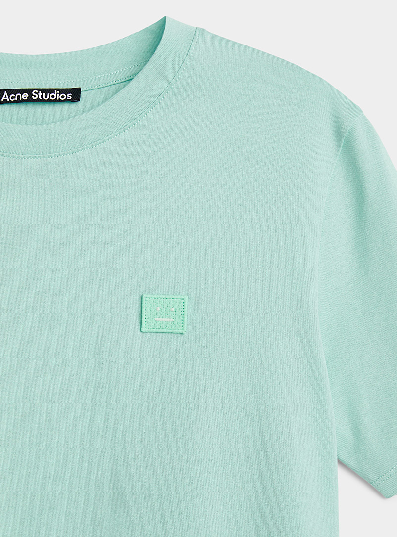 Acne Studios Lime Green Face patch T-shirt for women
