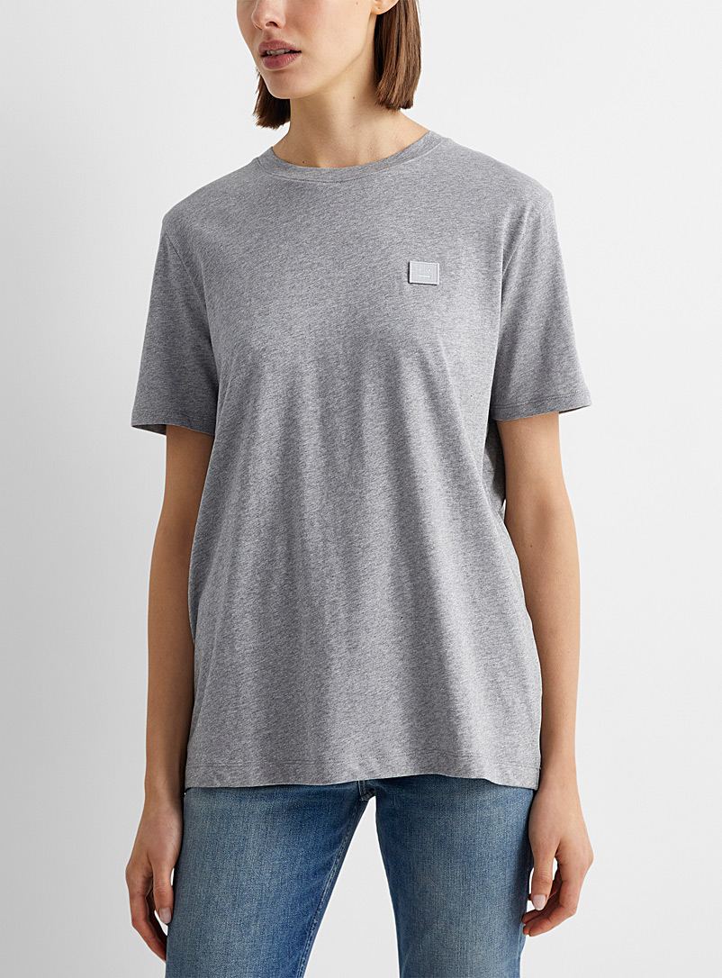 Acne Studios Black Face patch T-shirt for women