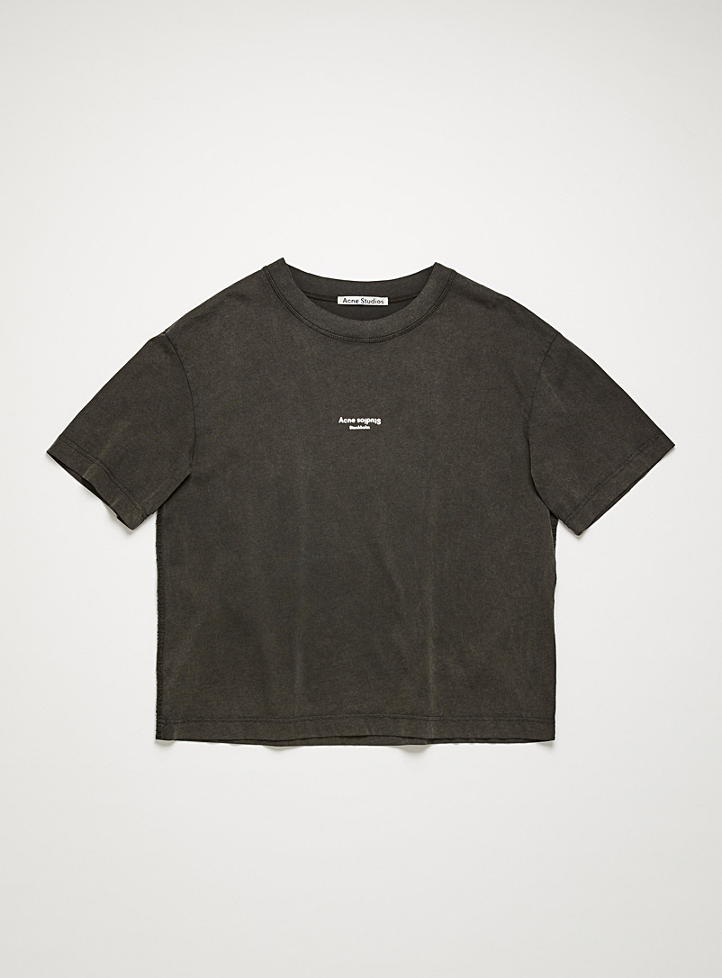 Acne Studios Black Reversed logo T-shirt for women