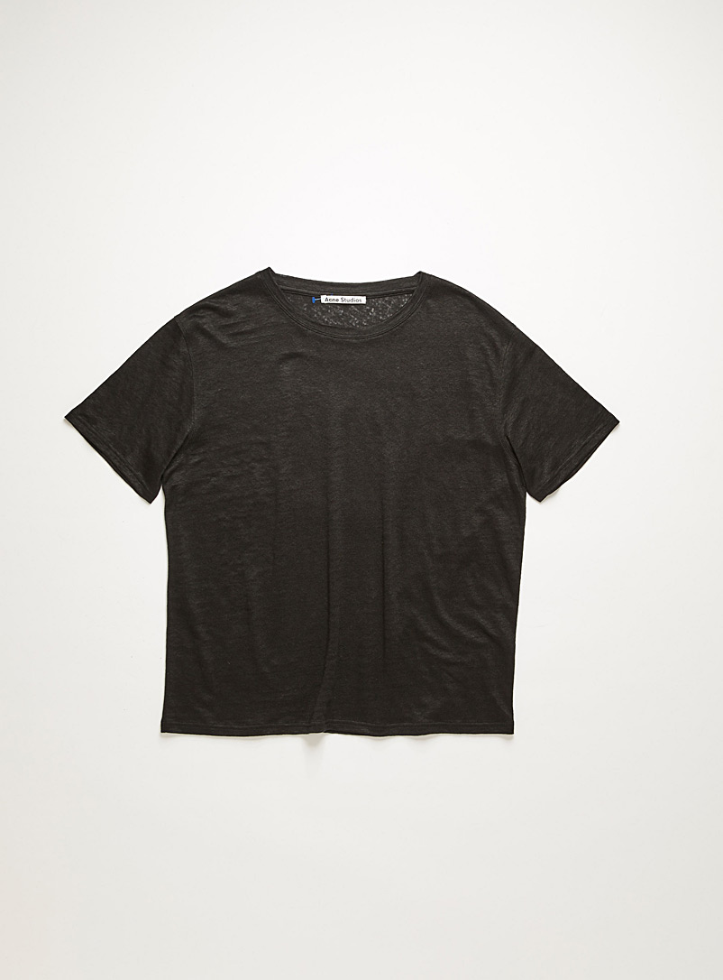 Acne Studios Black Linen t-shirt for women