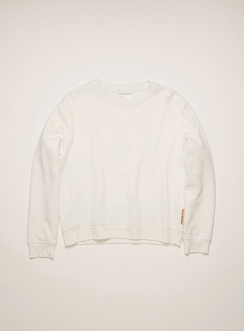 Acne Studios Black Logo tab sweatshirt for women