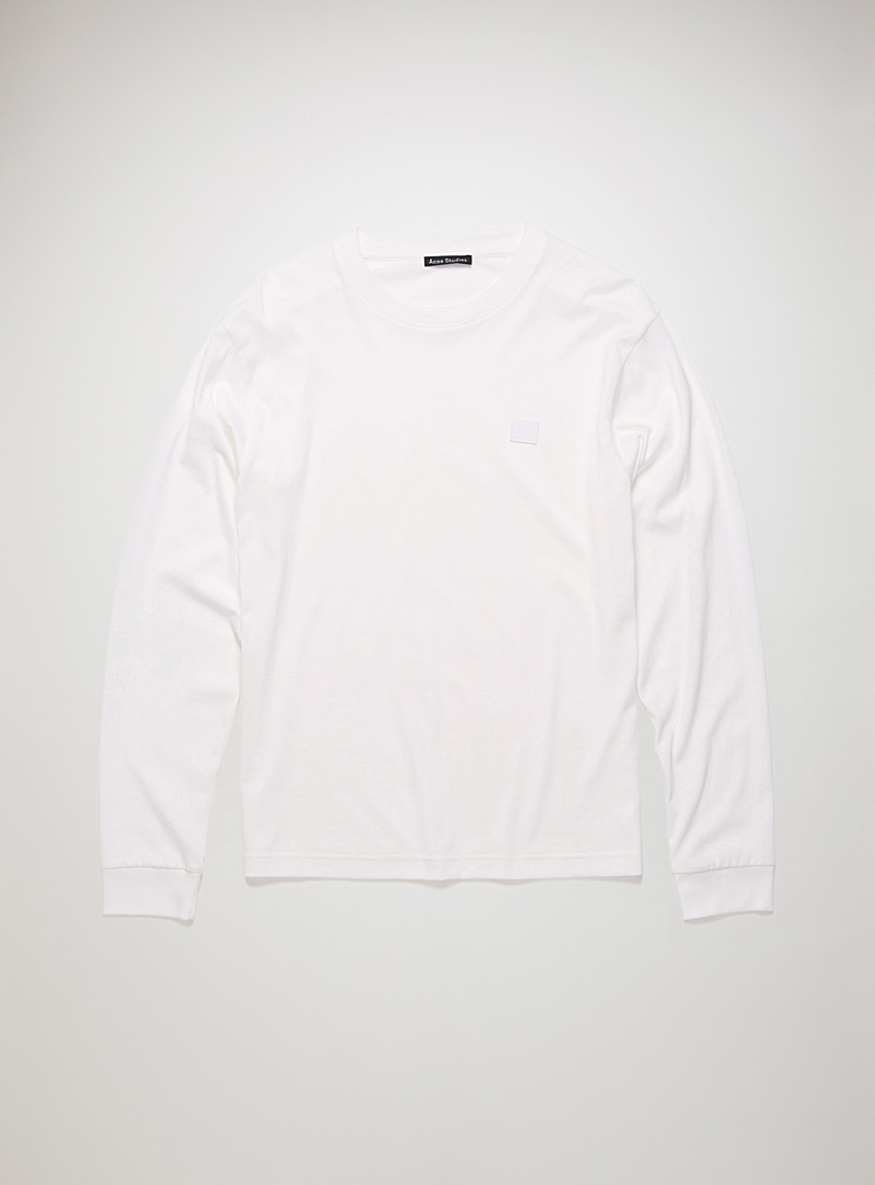 Acne Studios White Face patch long-sleeve T-shirt for women