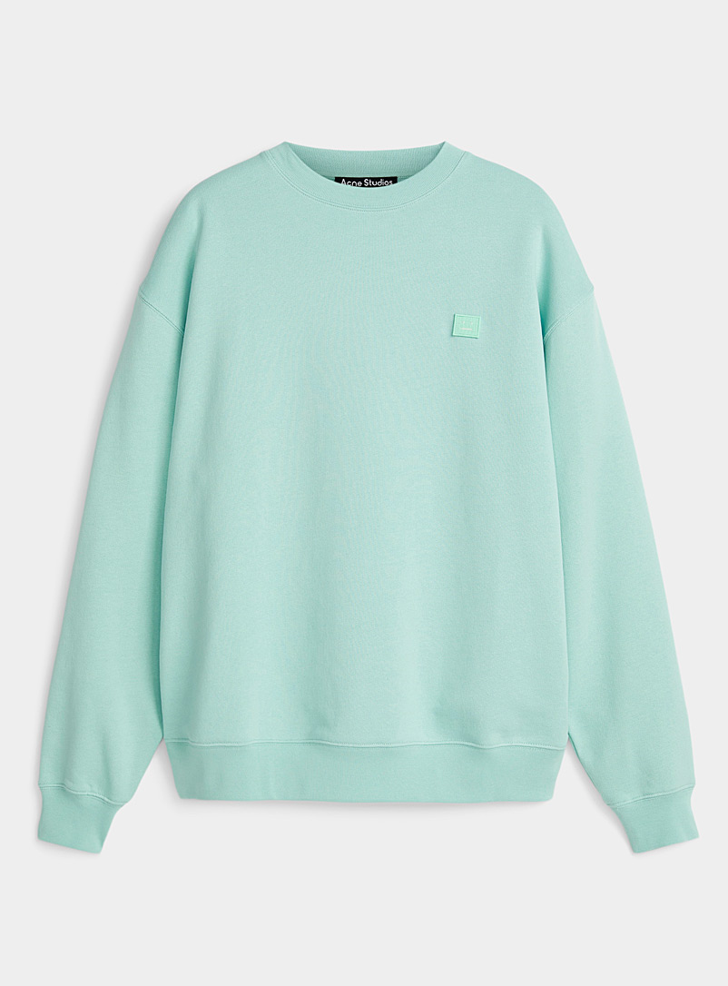Acne Studios Lime Green Face oversized sweatshirt for women
