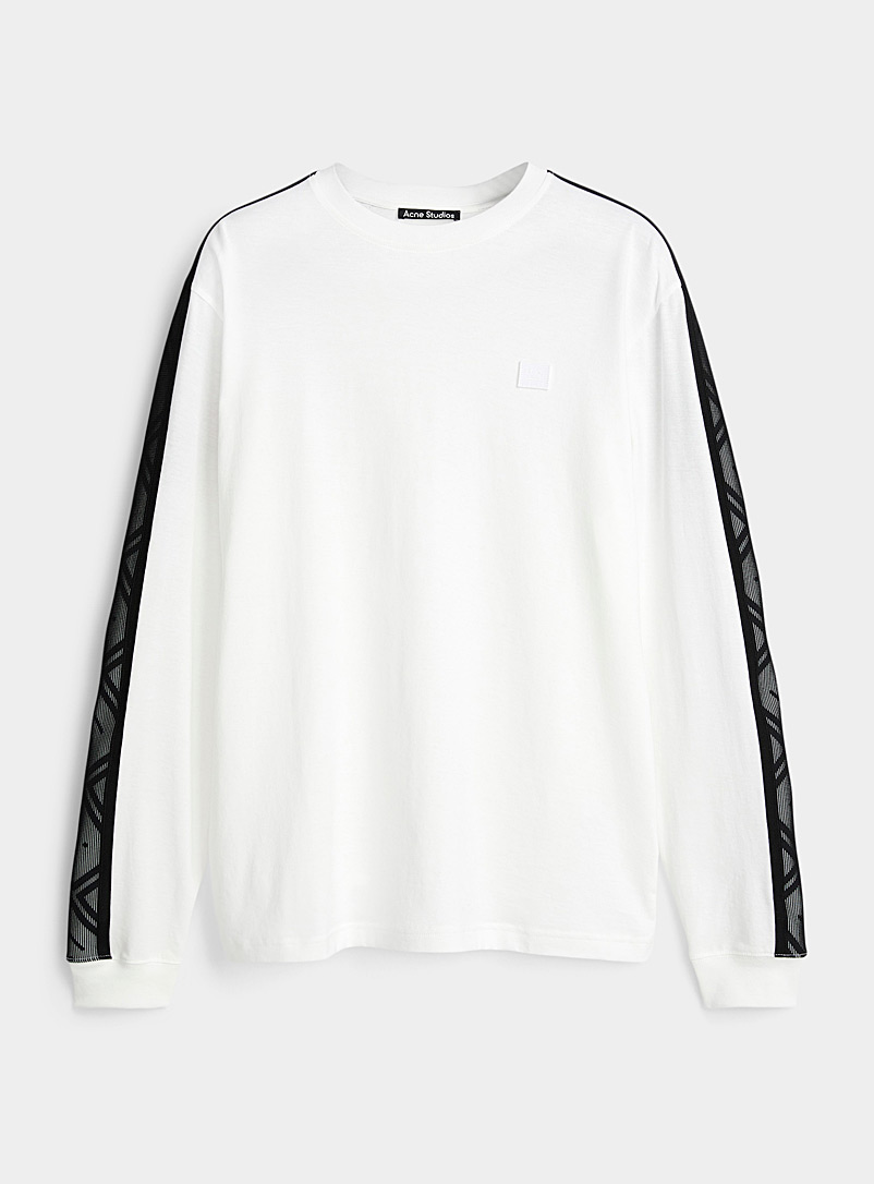 Acne Studios White Face band long-sleeve T-shirt for women