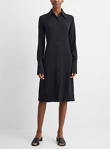 Lengthened sleeve shirtdress