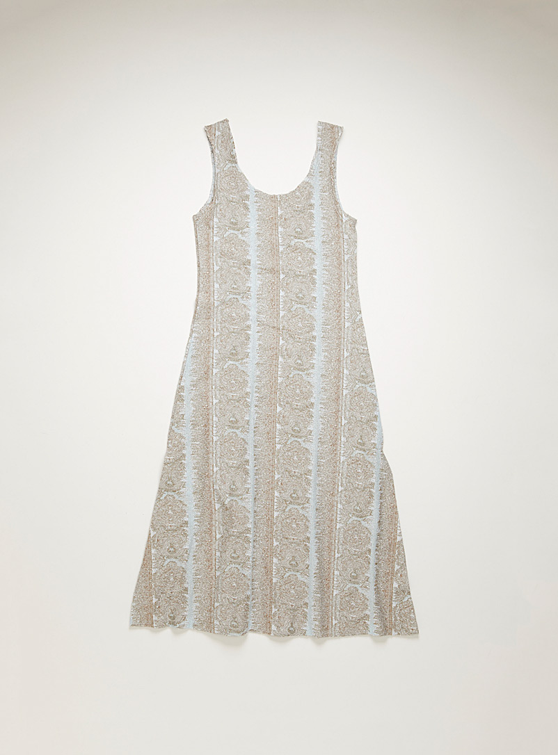 Acne Studios Baby Blue Jacquard jersey dress for women