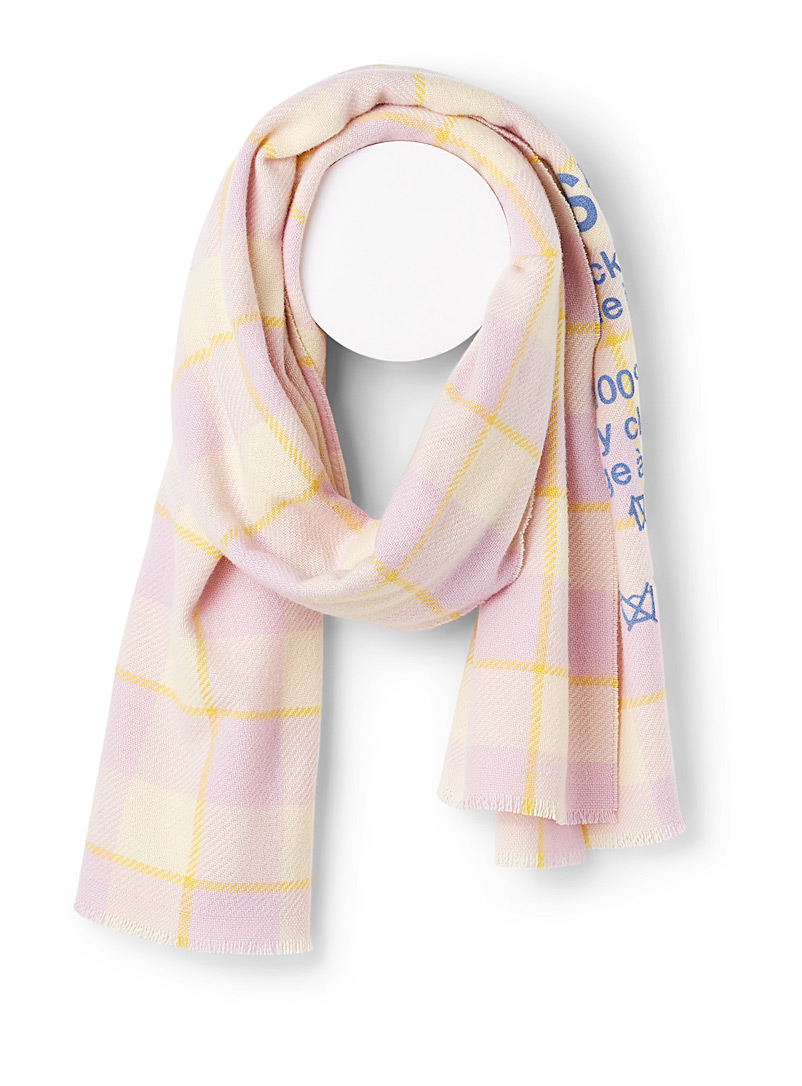 Acne Studios Pink Oversized check scarf for women