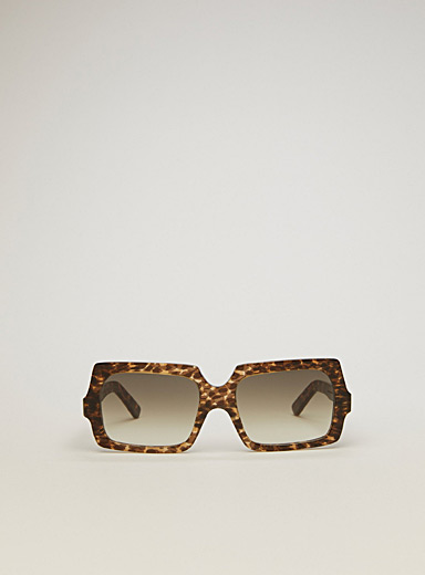 Acne Studios Patterned Brown Square leopard sunglasses for women