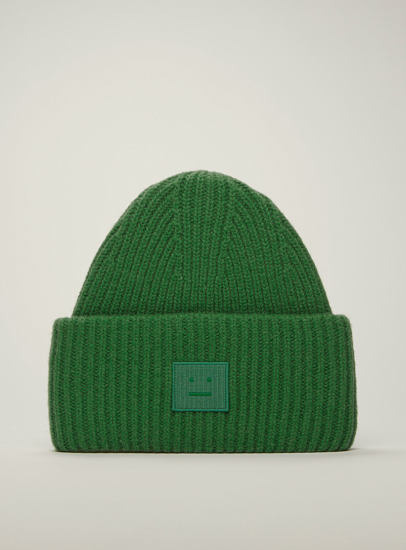 Acne Studios Green Pansy tuque for women