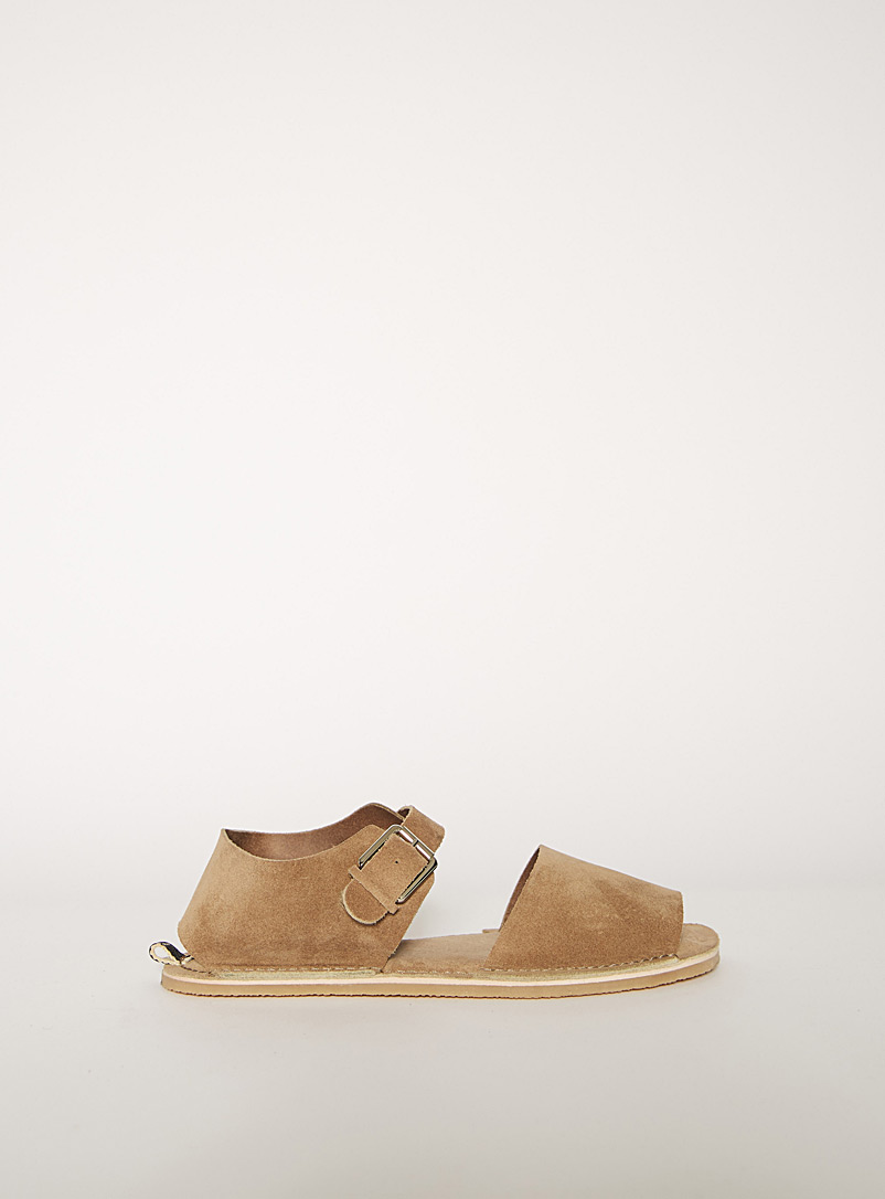 Acne Studios Cream Beige Menorcan-style sandals for women