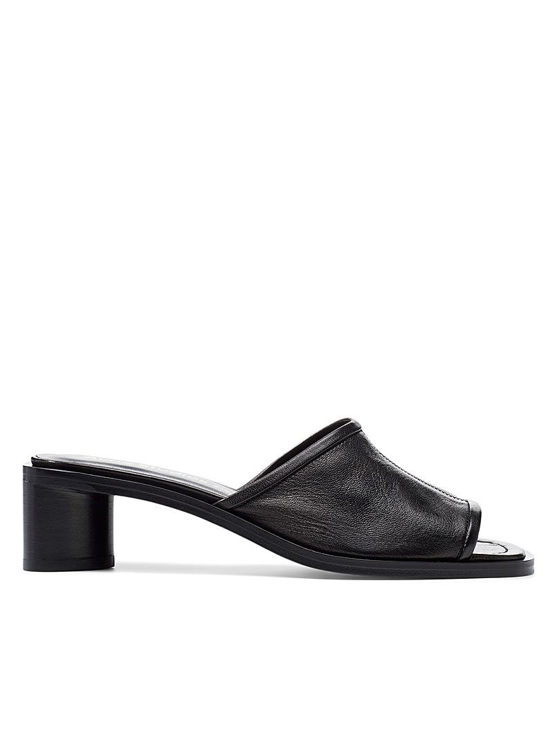 Berti leather mules