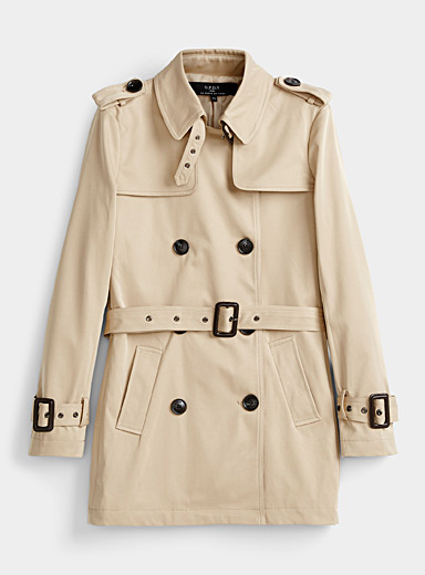 Classic cropped trench coat