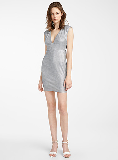 Silver scale dress
