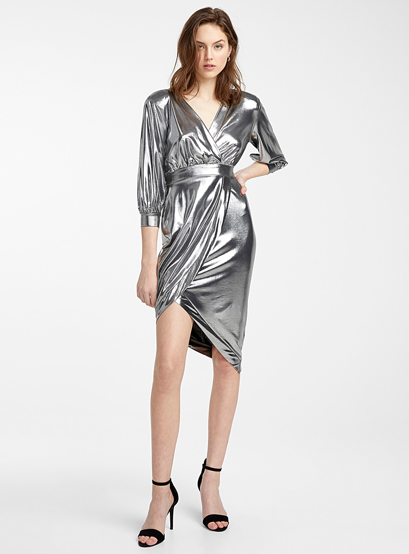 silver-lame-belted-dress