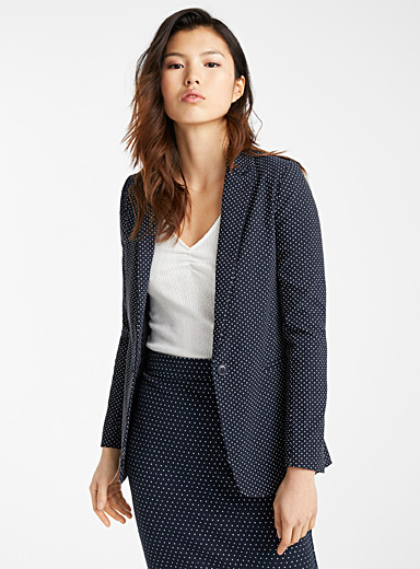 Mini dot stretch jacket
