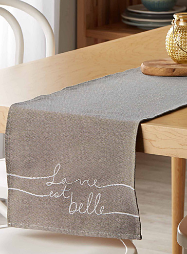 La vie est belle tapestry table runner  33 x 180 cm