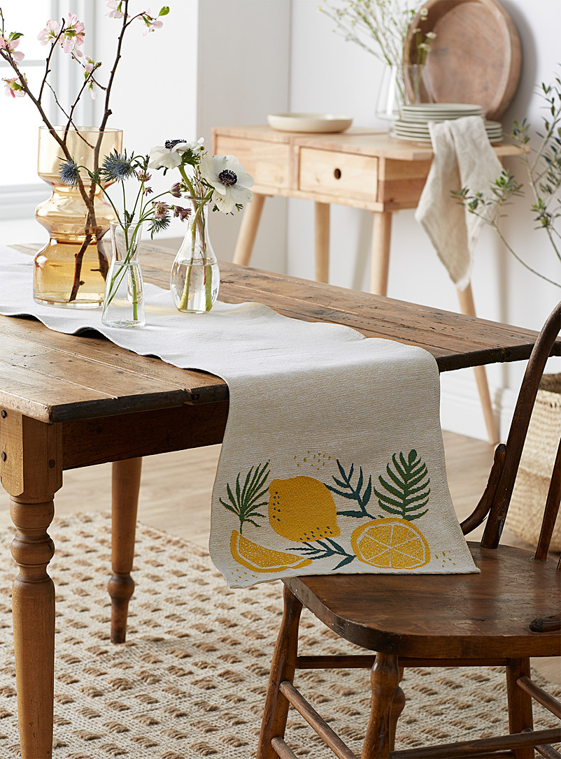 Simons Maison Assorted Lemon tree tapestry table runner 33 x 180 cm