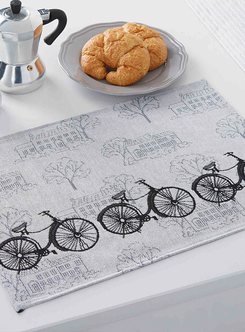 Simons Maison Assorted Bike ride tapestry placemat
