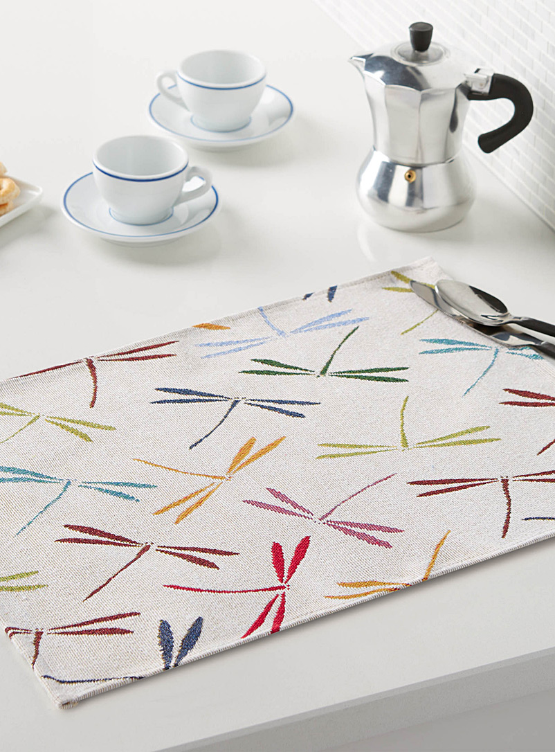 Simons Maison Assorted Dragonfly tapestry placemat
