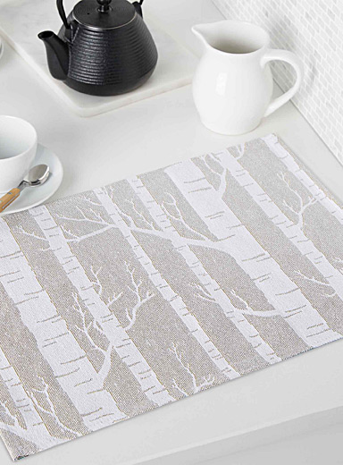 Birch forest tapestry place mat