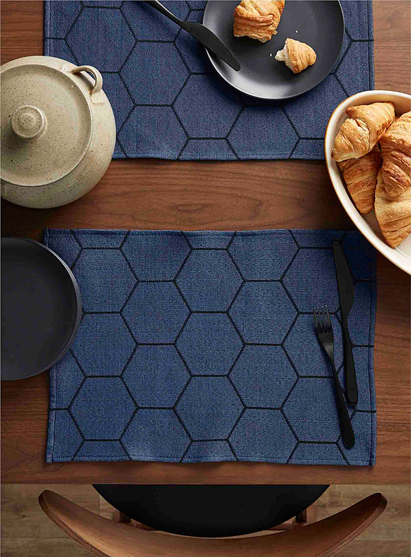 Hexagon tapestry placemat