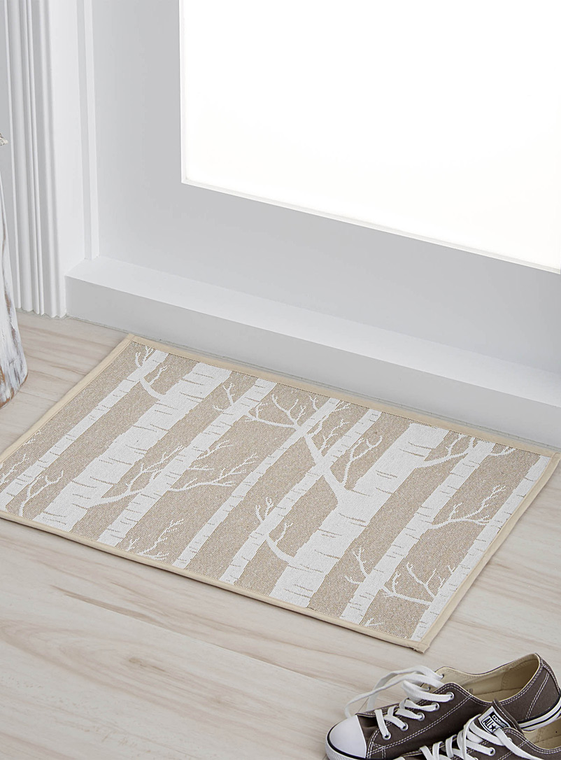 Birch forest rug  48 x 69 cm - Patterned - Sand